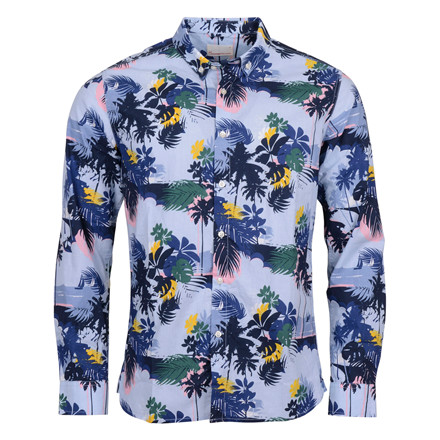 Knowledge Cotton Apparel PLAM SEA PRINT SHIRT