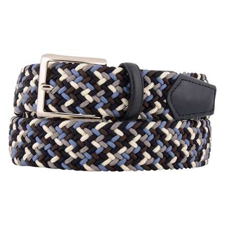 Paolo Vitale MENS BLUE MULTI ELASTIC BELT