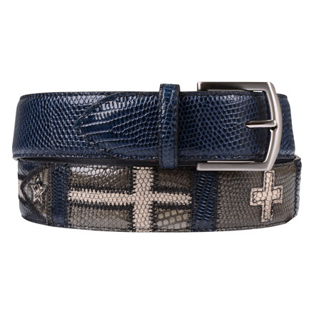 Paolo Vitale NAVY FLAG BELT