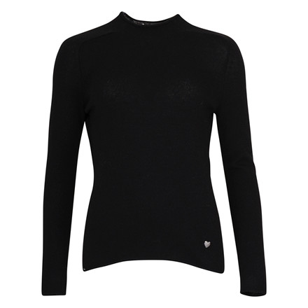 PRINCESS TURTLE KNIT CASHMERE BLK