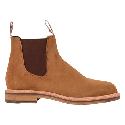 R.M WILLIAMS GILCHRIST SUEDE TOBACCO