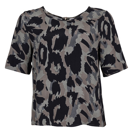SAINT TROPEZ ANIMAL PRINTED TOP D. GREEN
