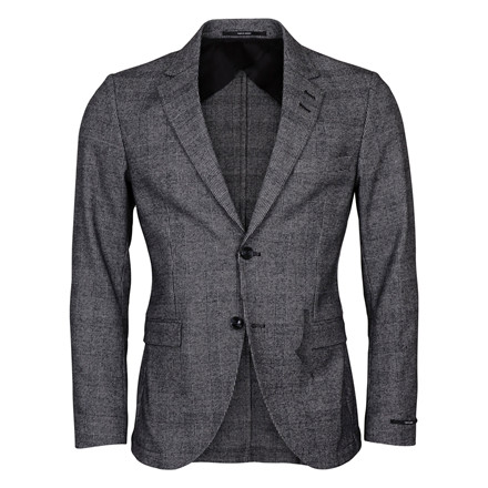 TIGER OF SWEDEN LAMONTE GREY CHECK BLAZER