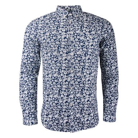 KNOWLEDGE COTTON  APPAREL FLOWER PRINT SHIRT