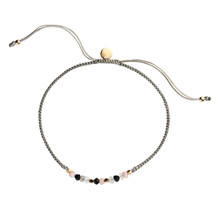 STINE A CANDY BRACELET KHAKI BLACK MIX