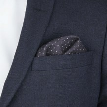 Atlas DesignDOT POCKET SQUARE-BLACK