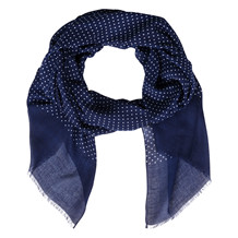 Atlas Design NAVY DOT SCARF