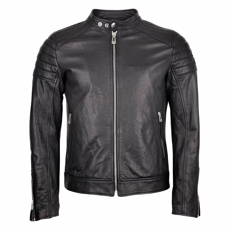 BELSTAFF NORTHCOTT LEATHER JACKET-BLACK