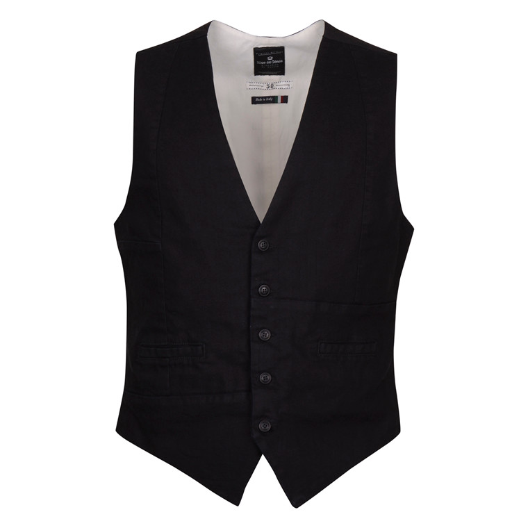 BLUE DE GENES AERO BLACK DENIM GILLET