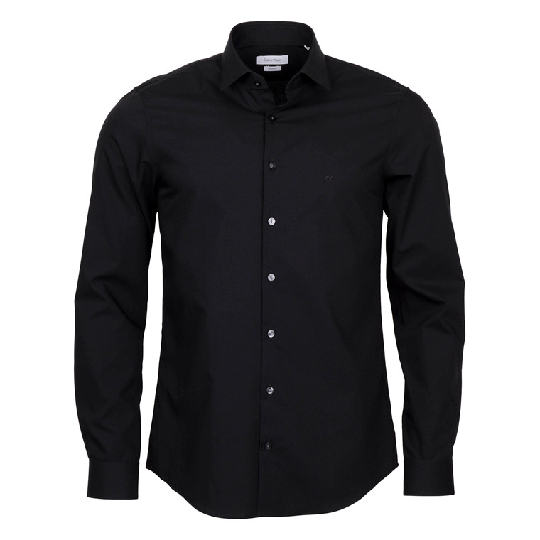 Calvin Klein POPLIN STRETCH BLACK