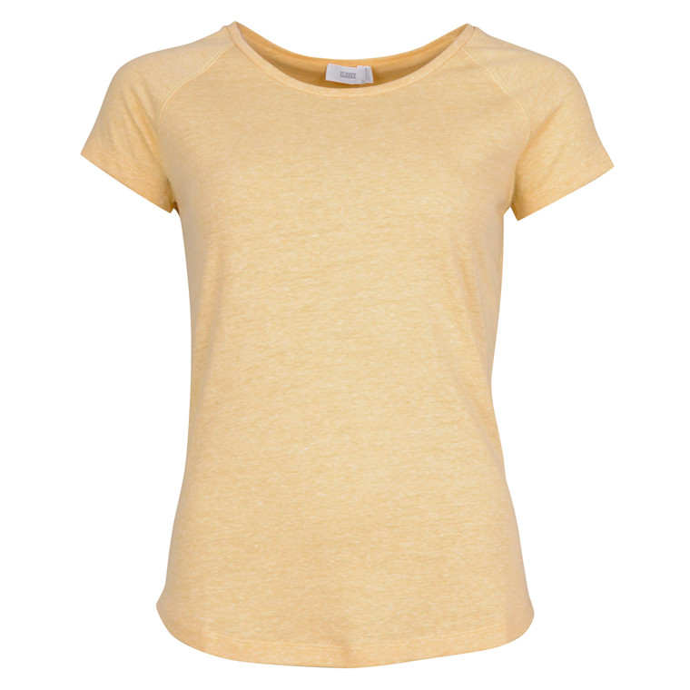 CLOSED WOMENS O-NECK TEE-YELLOW