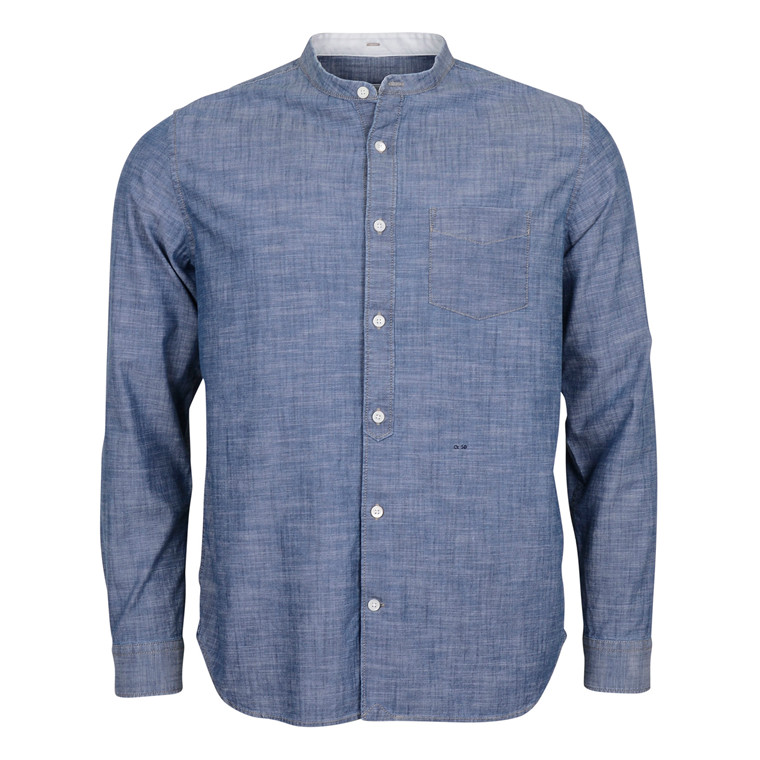 CLOSED COLLARLESS CHAMBRE SHIRT