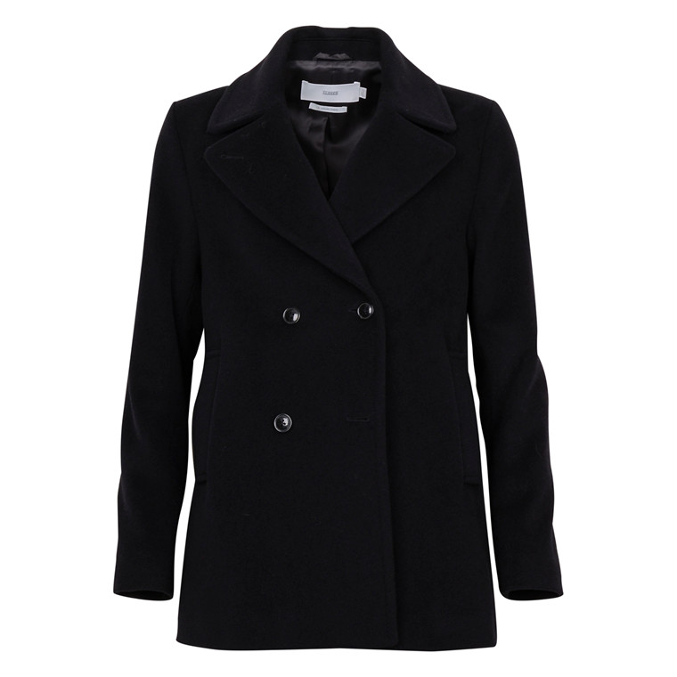 CLOSED JESSA BLACK WOOL PEACOAT