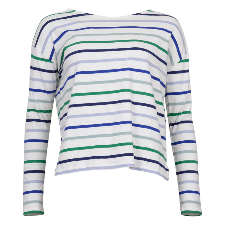 CLOSED STRIPED l/S TEE COT.