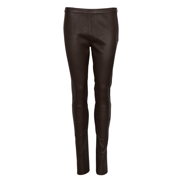 DEPECHE PLAIN LEGGIN W. ZIP GREEN