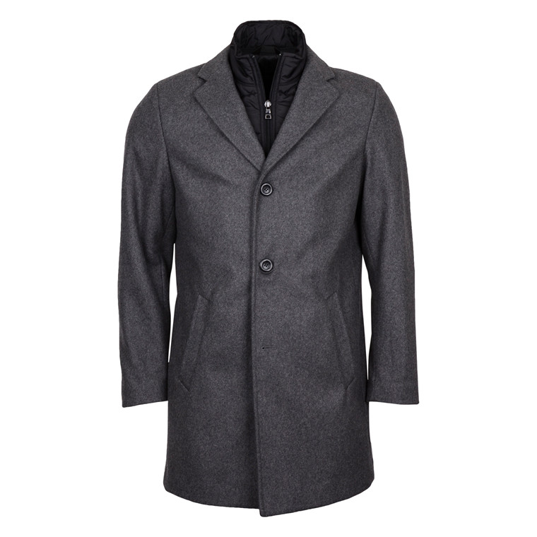 DUFFEL & RUMS FISICHELLA WOOL COAT-GREY