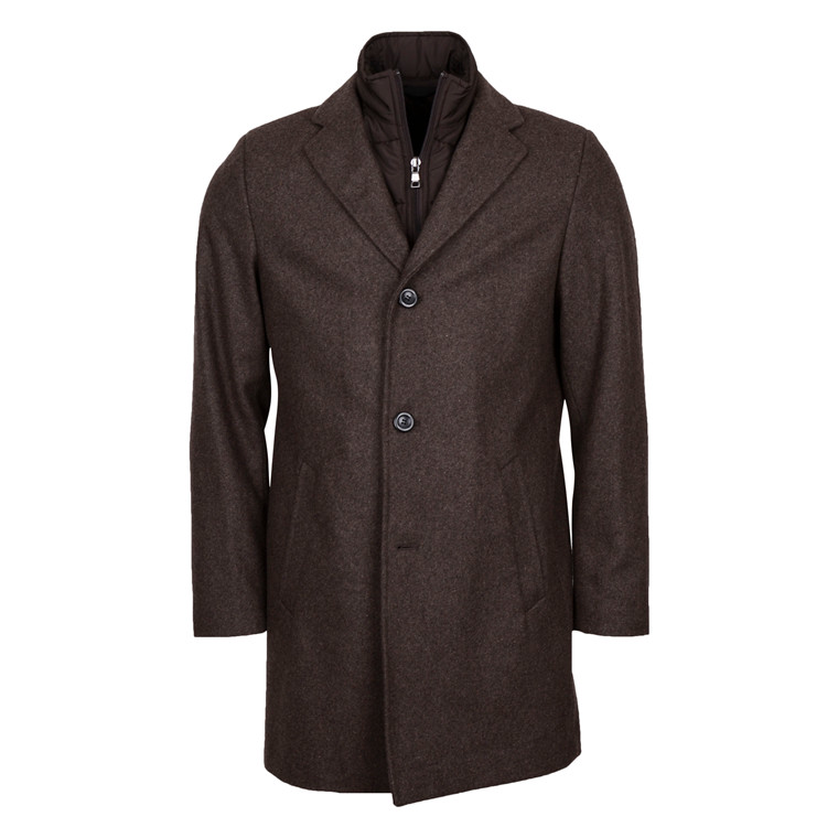 DUFFEL & RUMS FISICHELLA WOOL COAT-BROWN