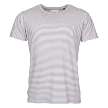 ELSK WHITE STRIPED TEE