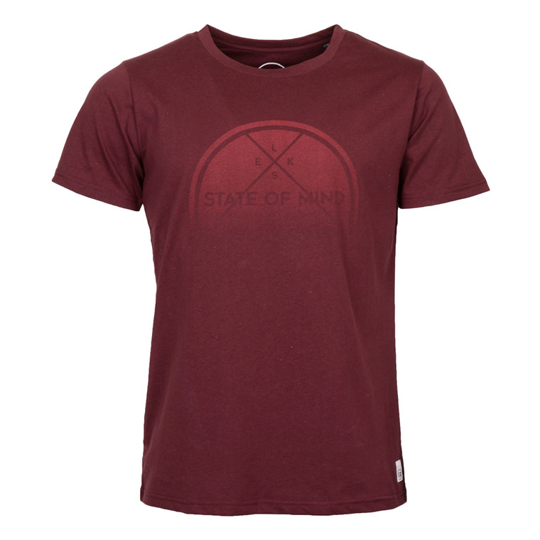 ELSK S.O.M SUNRISE MENS TEE BORDEAU
