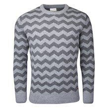 KNOWLEGDE COTTON APPAREL  ZIGZAG WOOL KNIT