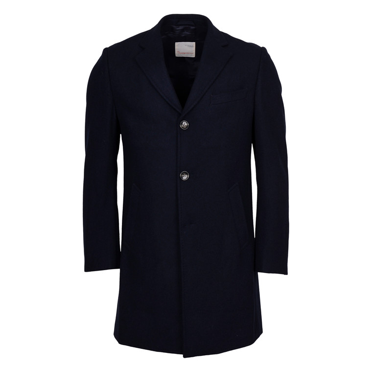Knowledge Cotton Apparel WOOL COAT NAVY