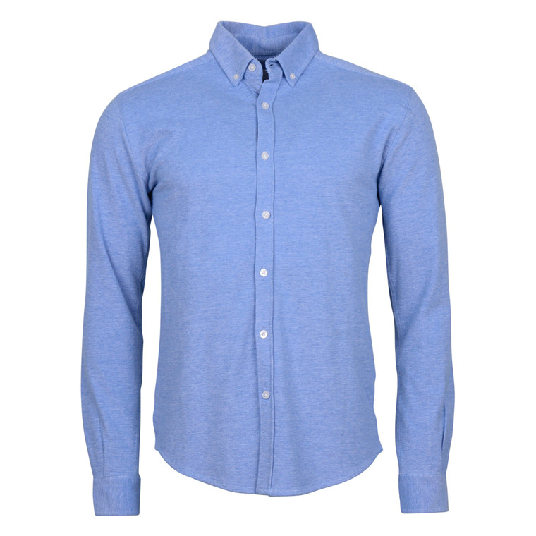 Knowledge Cotton Apparel BLUE PIQUE SHIRT