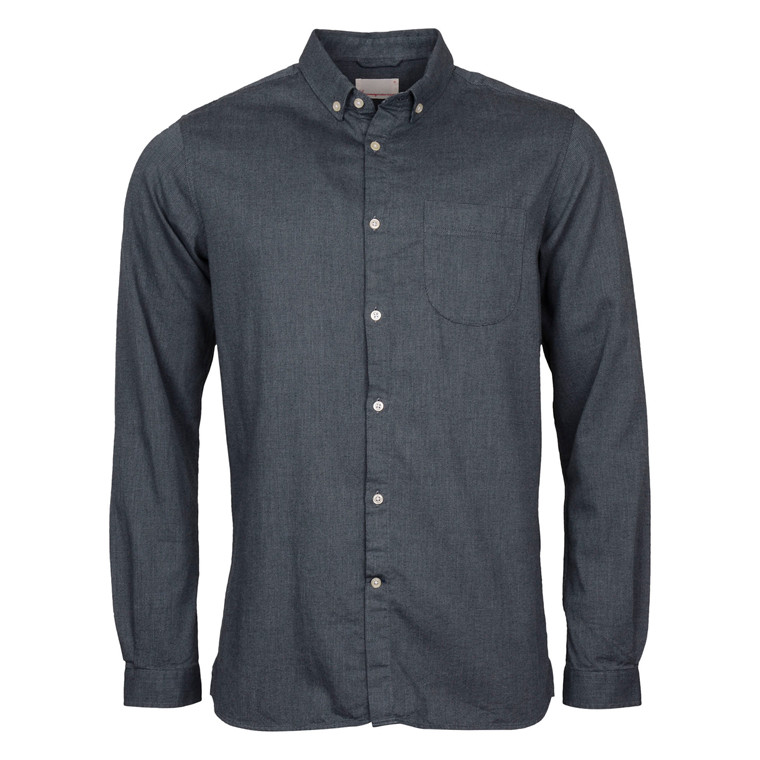 Knowledge Cotton Apparel INDIGO ZIGZAG SHIRT