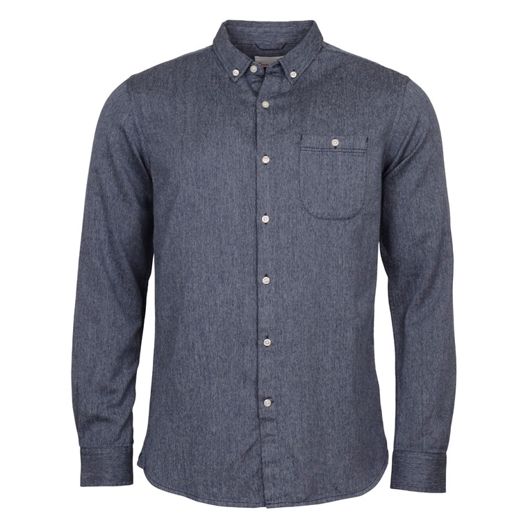 Knowledge Cotton Apparel MELANGE TWILL SHIRT