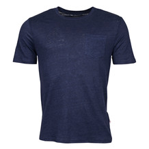 Knowledge Cotton Apparel NAVY LINEN TEE
