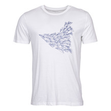 Knowledge Cotton Apparel PLANE PRINT TEE