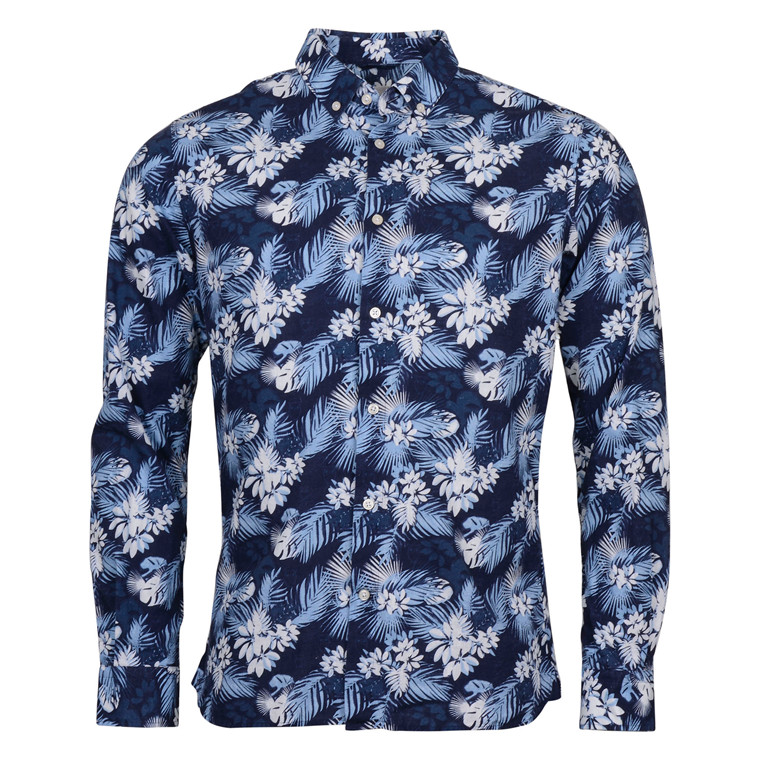 Knowledge Cotton Apparel PRINTED CO/LINEN SHIRT