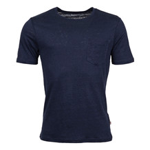 Knowledge Cotton Apparel SINGLE JERSEY LINEN TEE NAVY