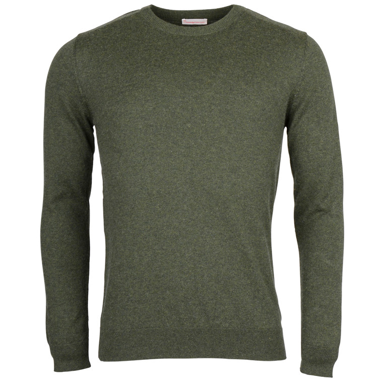 Knowledge Cotton Apparel BASIC O-NECK CASHMERE