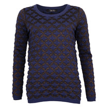 MAISON SCOTCH LUREX CREW NECK