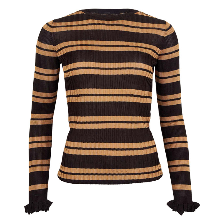 MAISON SCOTCH RIB KNIT STRIPES