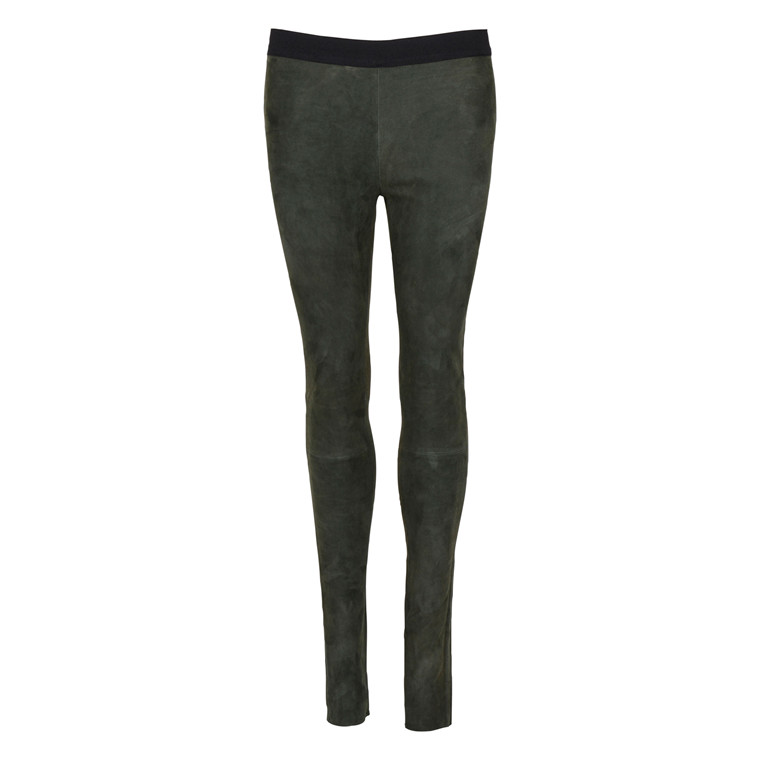 MDK SUEDE STRETCH LEGGINGS FOREST