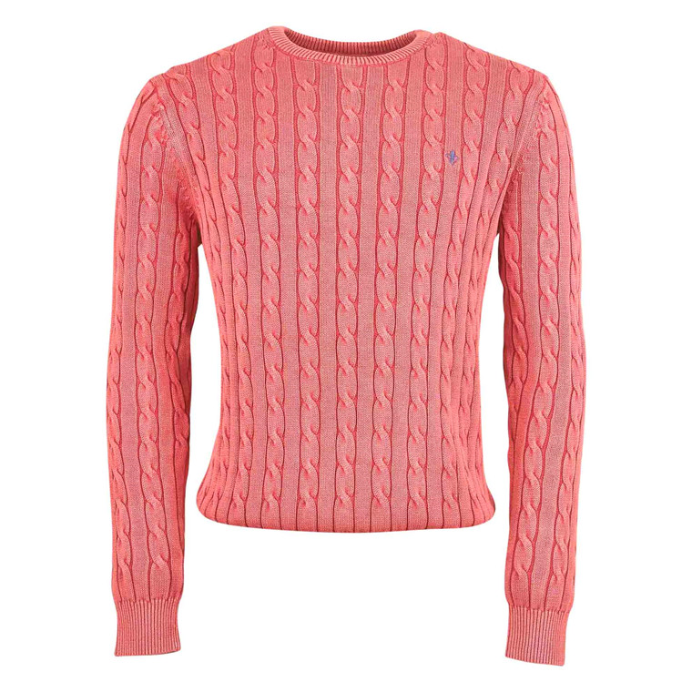MORRIS PIMA COTTON CABLE KNIT-34
