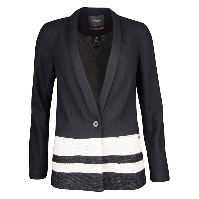 MAISON SCOTCH WOOL BLAZER W STRIPES