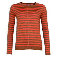 MAISON SCOTCH FINE LUREX STRIPE KNIT