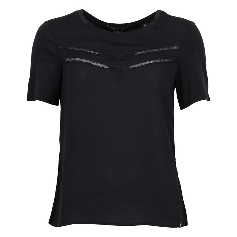 MAISON SCOTCH JERSEY TEE S/S BLACK