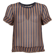 MAISON SCOTCH LEO PRINT MIX TEE