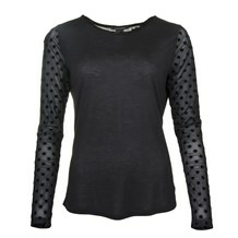 MAISON SCOTCH LON SLEEVE TEE POLKA DOT