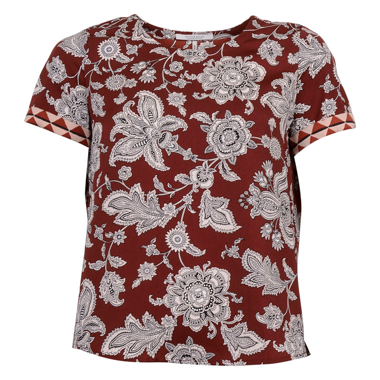 MAISON SCOTCH PAISLEY PRINTED TOP
