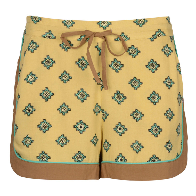 MAISON SCOTCH PYJAMA SHORTS YELLOW