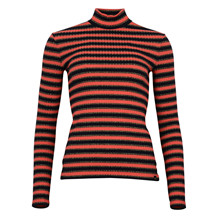MAISON SCOTCH RIB TURTLE NECK FUN STRIPE