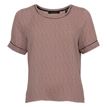 MAISON SCOTCH ROSA BLK. SS TOP