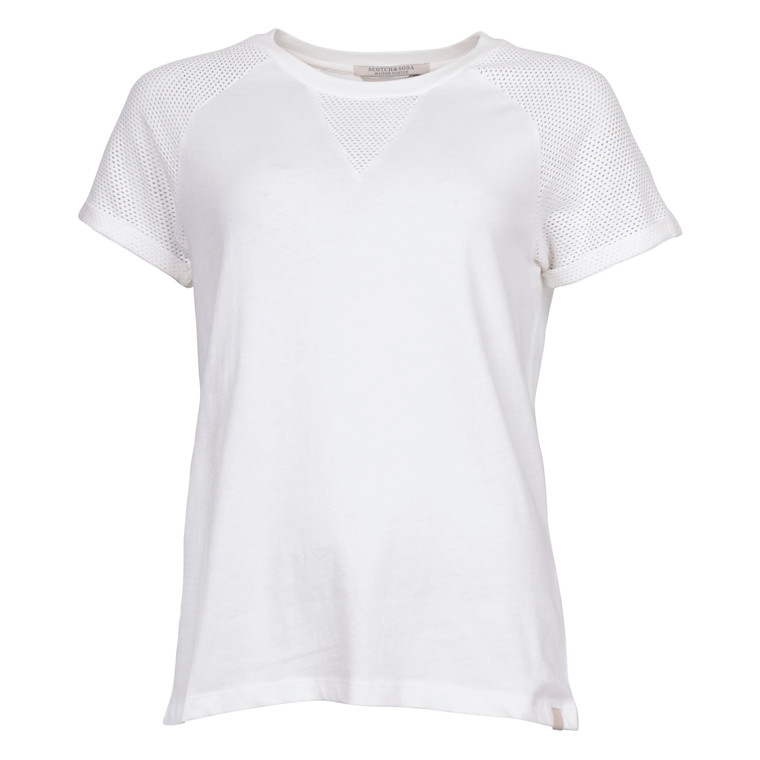 MAISON SCOTCH SHORT SLEEVE JERSEY TEE