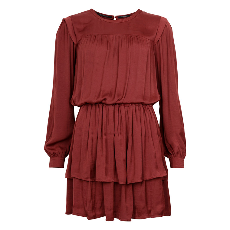MAISON SCOTCH SILKE FEEL DRESS RED