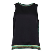 MAISON SCOTCH SILKY F. TANK W. RIB BLACK