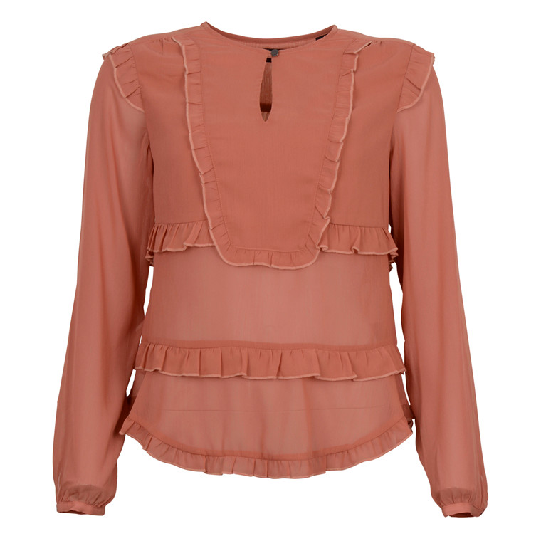 MAISON SCOTCH SILKY FEEL SHEER TOP